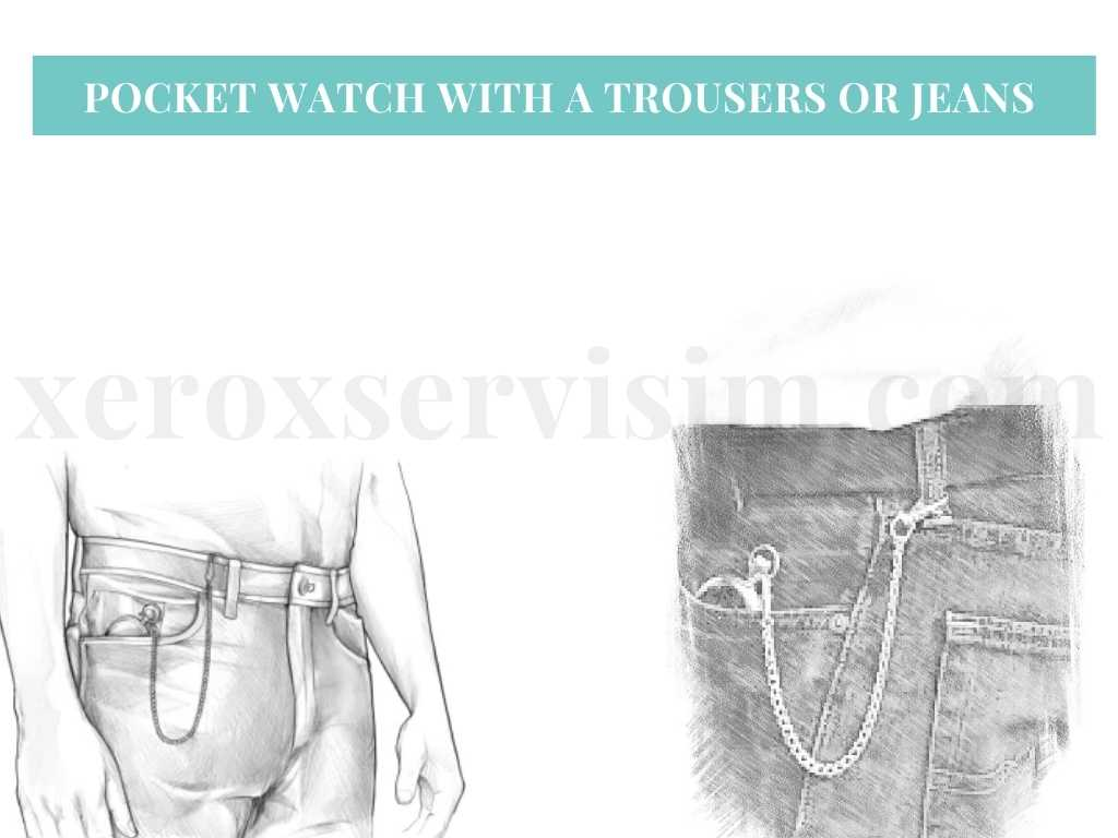 TROUSERS AND JEANS POCKET WATCH